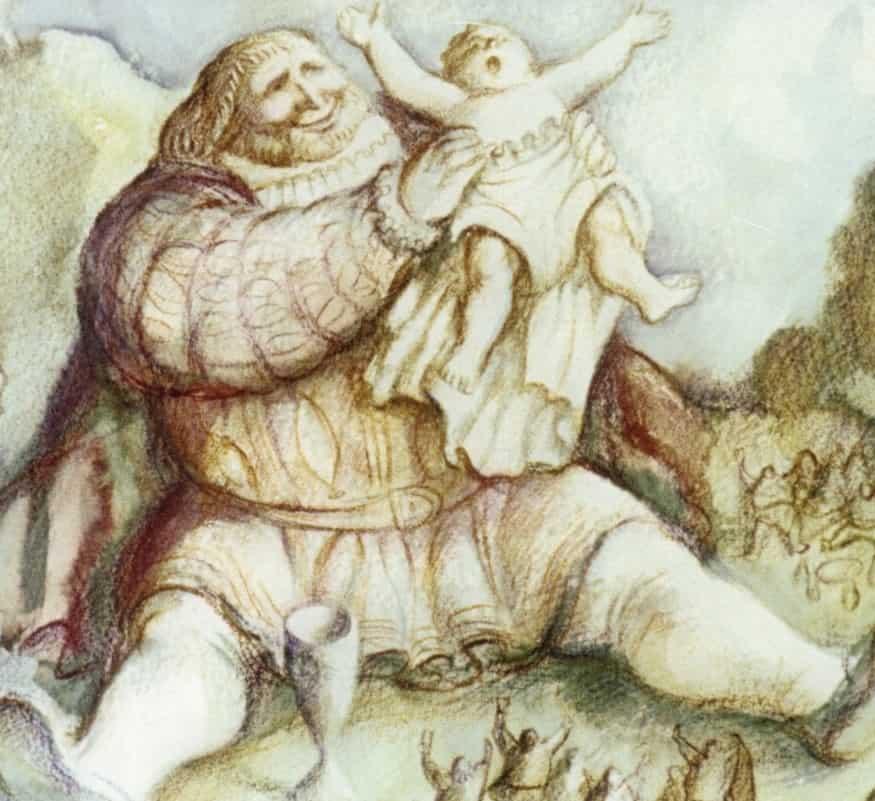 Giants and gargantuan creatures in dreams